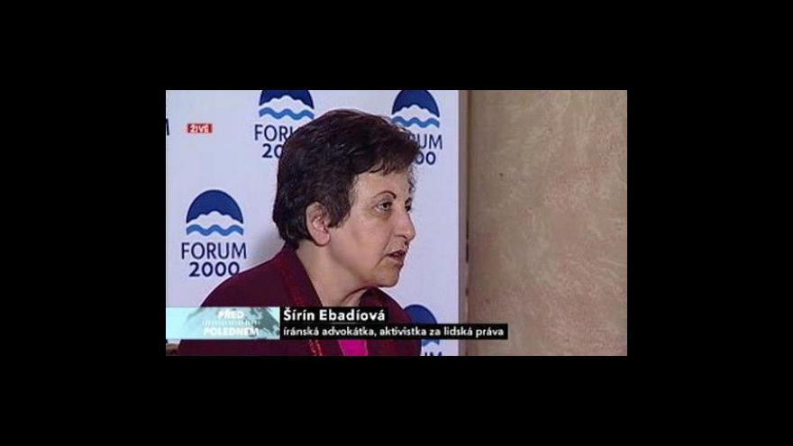 Video Rozhovor s Šírin Ebadíovou