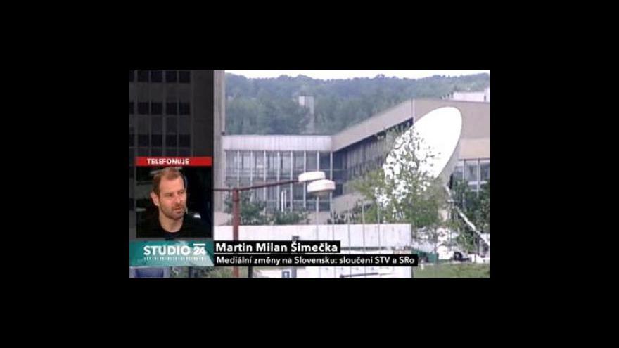 Video Martin Milan Šimečka ve Studiu ČT24