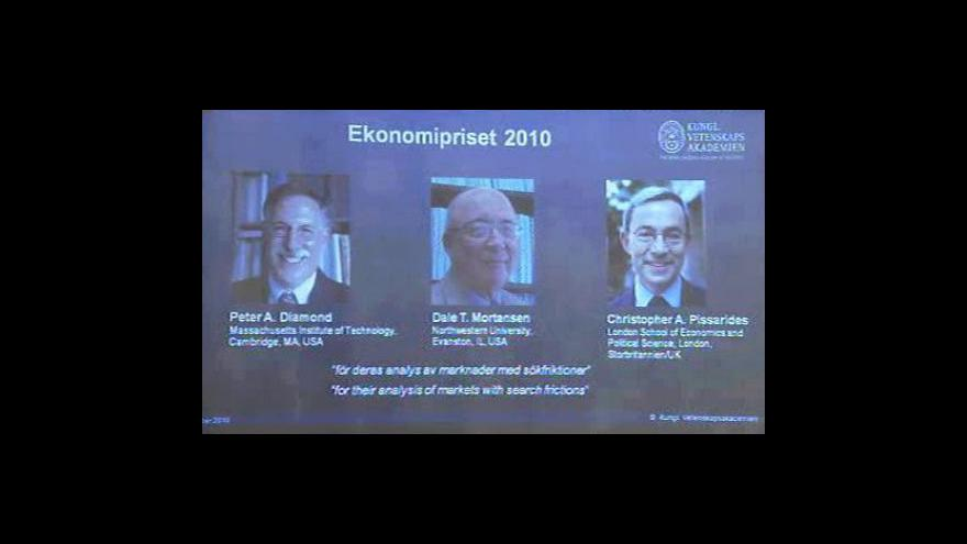 Video Nobelova cena za ekonomii