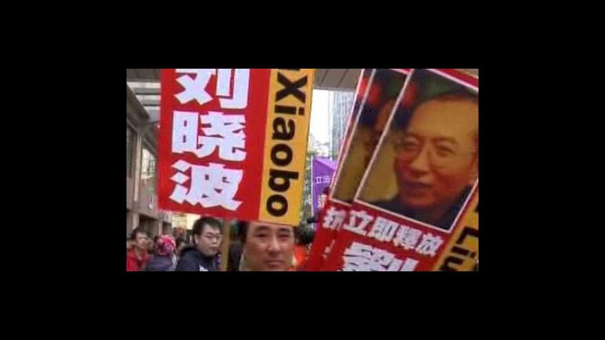 Video Nobelovu cenu míru získal čínský disident
