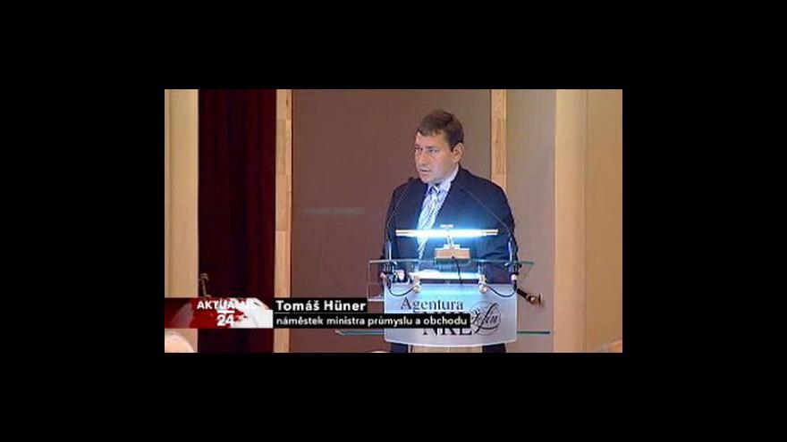 Video Projev náměstka ministra průmyslu a obchodu Tomáše Hünera