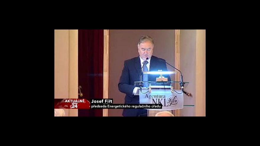 Video Projev předsedy Energetického regulačního úřadu Josefa Fiřta