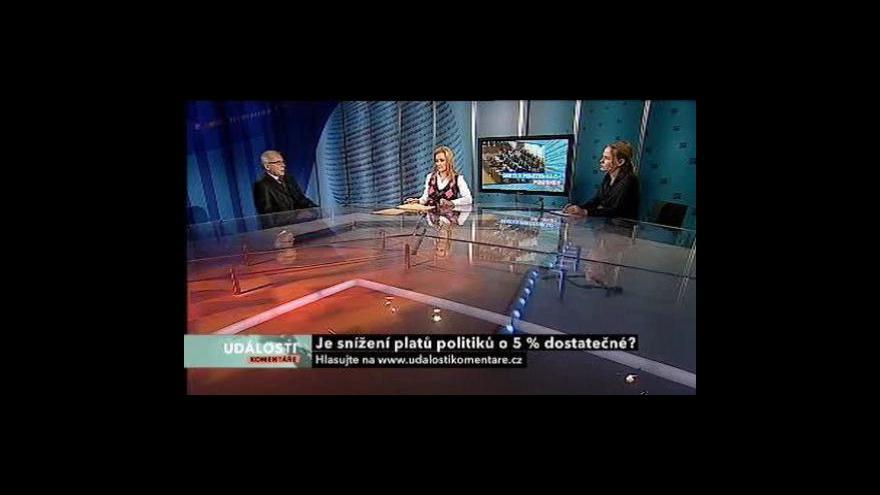 Video Události, komentáře o snižování platů politiků
