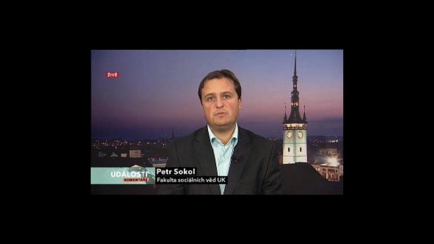Video Události, komentáře s politologem Petrem Sokolem