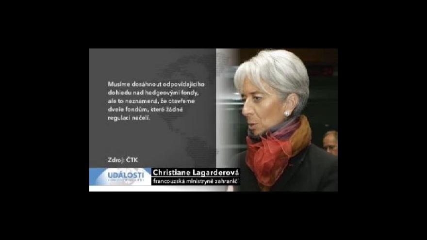 Video Francie zablokovala regulaci hedgeových fondů v EU