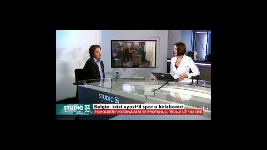 Video Studio ČT24 o situaci v Belgii