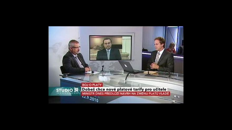 Video Josef Dobeš a František Dobšík ve Studiu ČT24