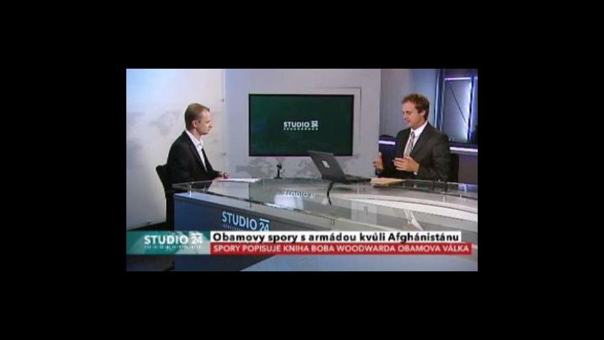 Video Studio ČT24 o strategii USA v Afghánistánu