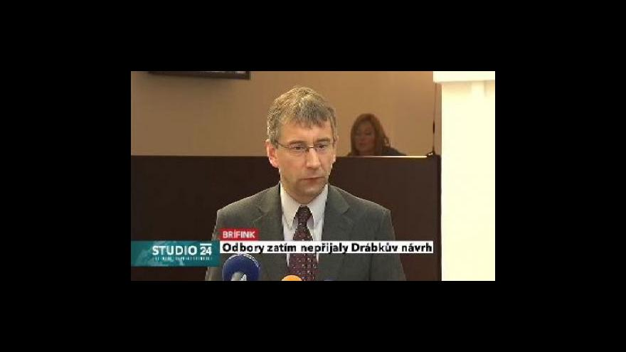 Video Brífink ministra práce Jaromíra Drábka