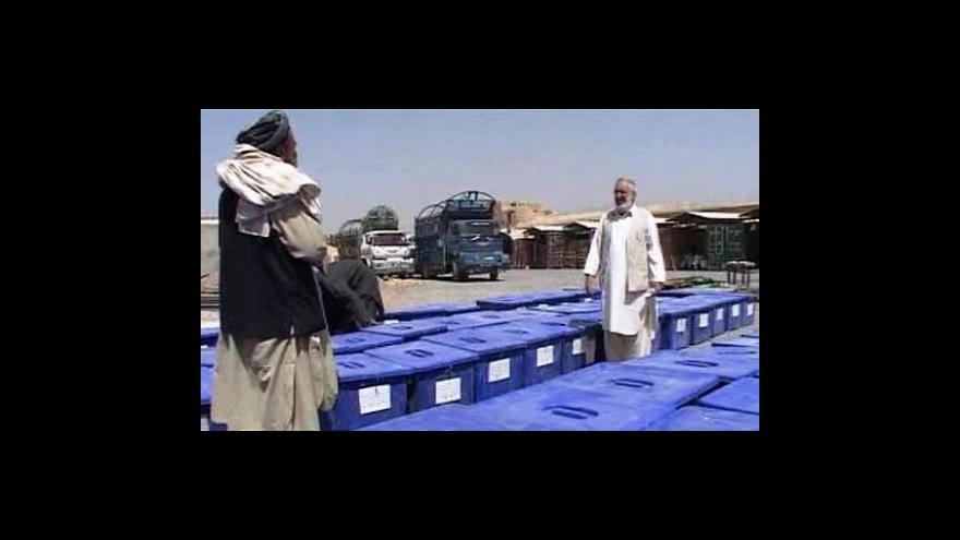 Video Afghánistán se připravuje na volby