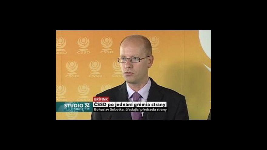Video Brífink ČSSD k předvolebním billboardům v Mostě