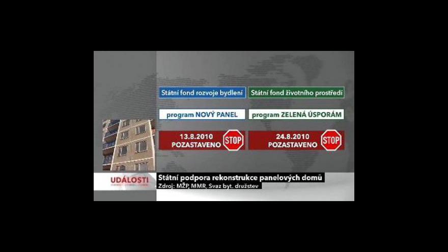 Video Na zateplení panelových domů nejsou peníze