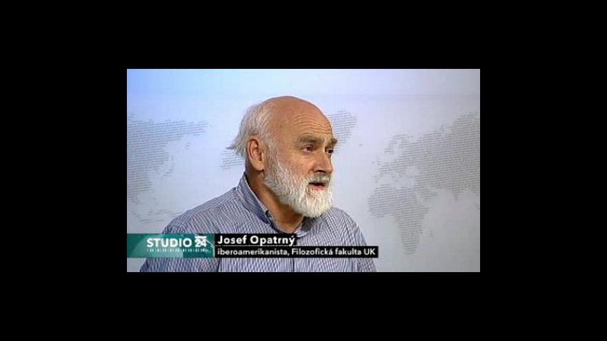 Video Studio ČT24 s latinoamerikanistou Josefem Opatrným