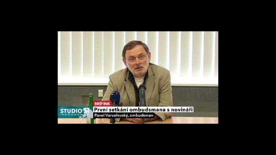 Video Tisková konference ombudsmana Pavla Varvařovského