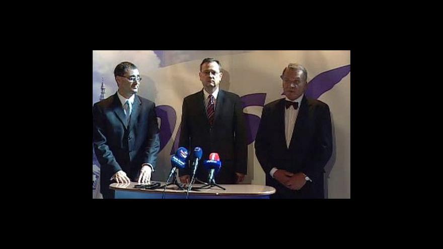 Video Tisková konference pražské ODS