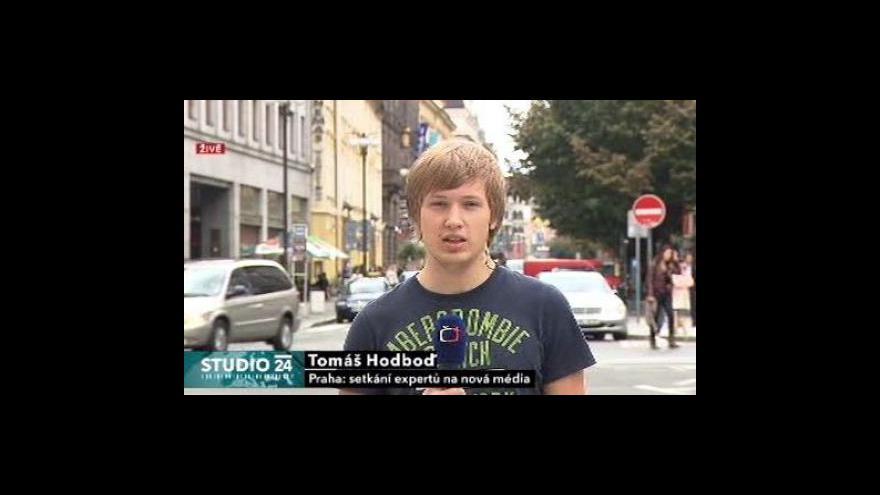 Video Studio ČT24 o setkání expertů na nová média