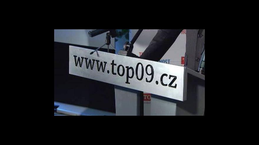 Video Brífink TOP 09 k zahájení kampaně pro komunální volby