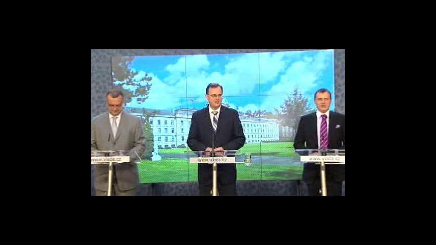 Video Tisková konference k závěrům jednání vlády