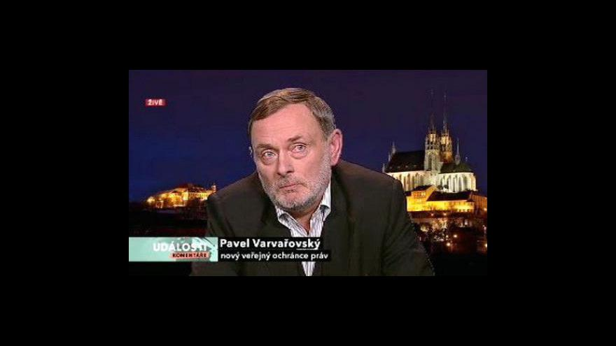 Video Pavel Varvařovský hostem Událostí, komentářů