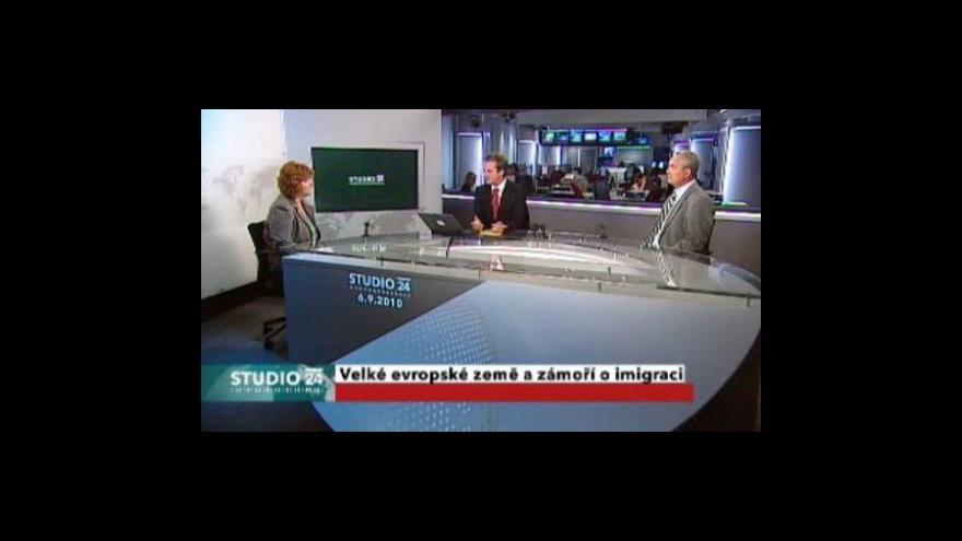 Video Studio ČT24 o imigraci ve Francii