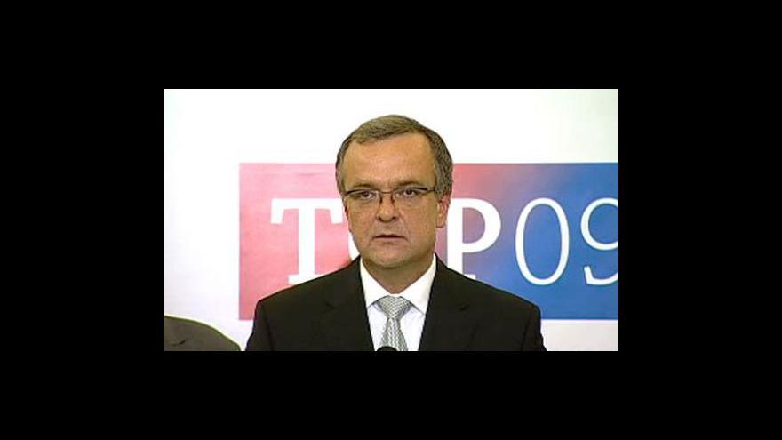 Video Tisková konference TOP 09