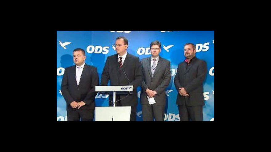Video Tisková konference po jednání výkonné rady ODS