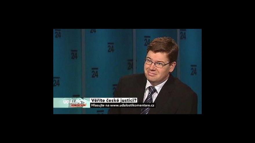 Video Události, komentáře k reformě justice