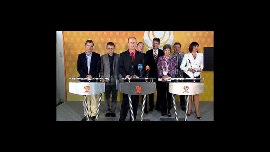 Video Brífink po jednání ČSSD