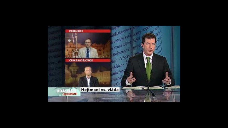 Video Události, komentáře k setkání hejtmanů s ministry
