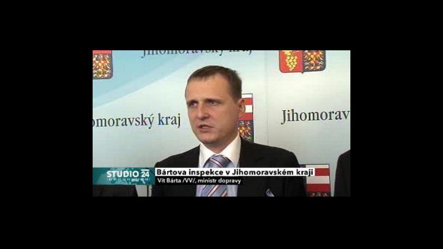Video TK ministra dopravy Víta Bárty