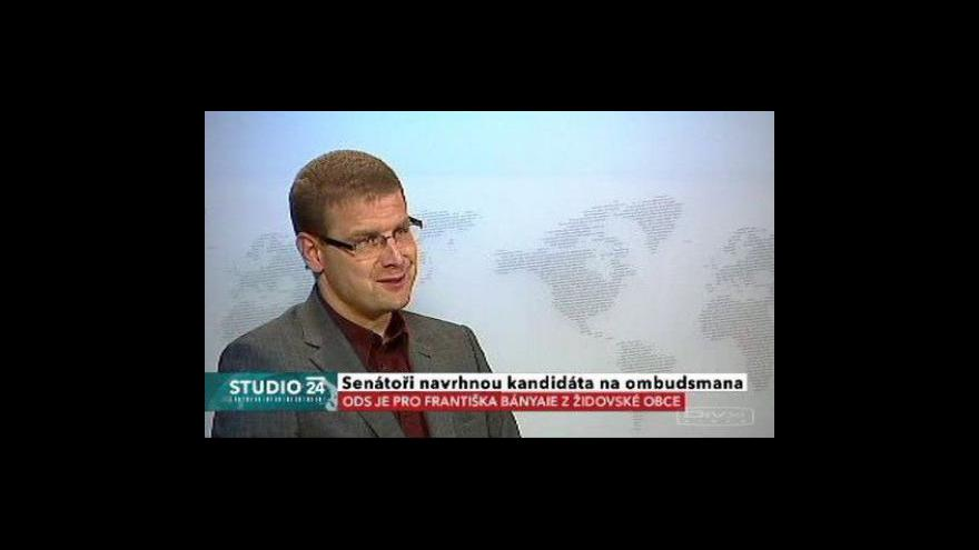 Video Studio ČT24 o senátních kandidátech na ombudsmana