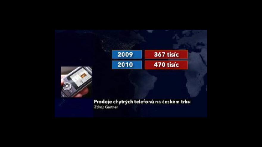 Video Chytré telefony tématem Ekonomiky ČT24