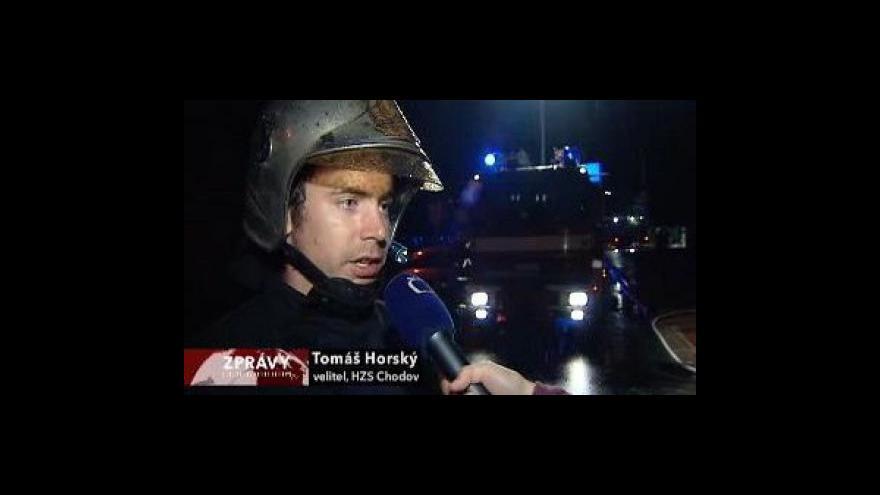 Video Noční bouře nad Prahou