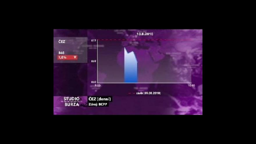 Video Výsledky ČEZu očima Studia Burza