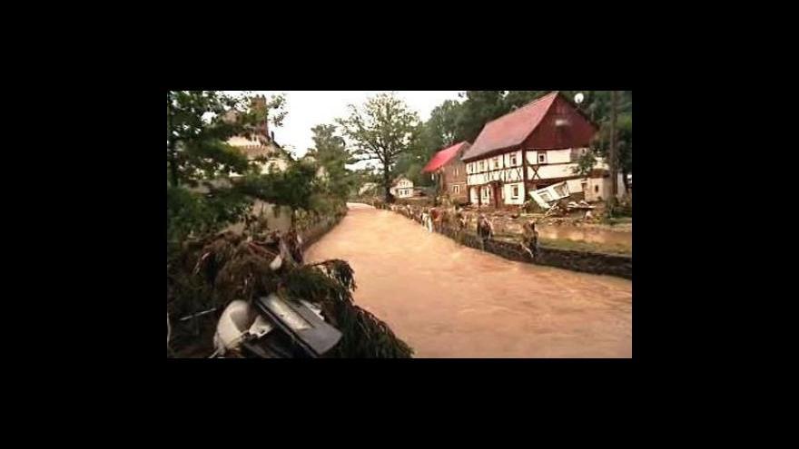 Video Studio ČT24 o povodních v Německu a Polsku