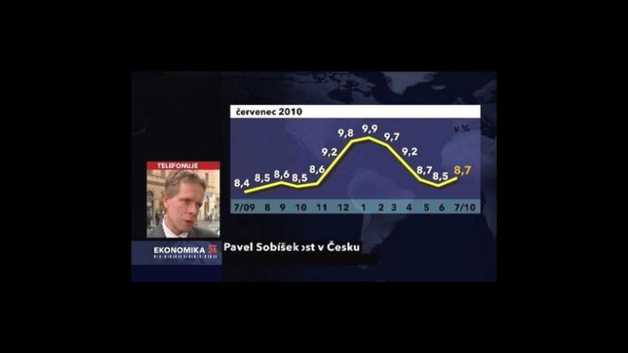 Video Rostoucí nezaměstnanost v červenci