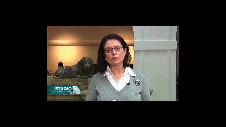 Video Miroslava Němcová ve Studiu ČT24