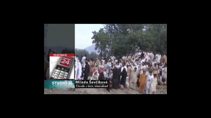 Video Studio ČT24 o záplavách v Pákistánu