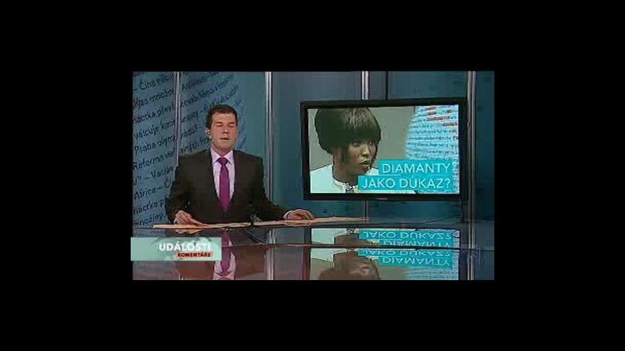 Video Události, komentáře o svědectví Naomi Campbell