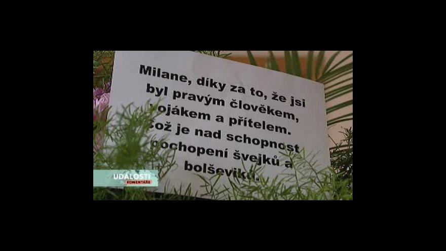 Video Události, komentáře o Milanu Paumerovi a bratech Mašínech