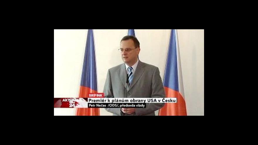 Video Tisková konference premiéra Petra Nečase
