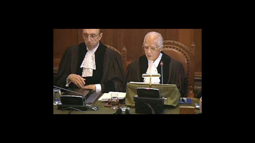 Video Události komentáře k verdiktu haagského soudu