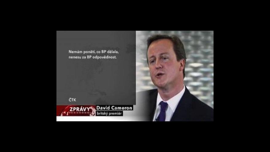 Video Cameron míří za Obamou