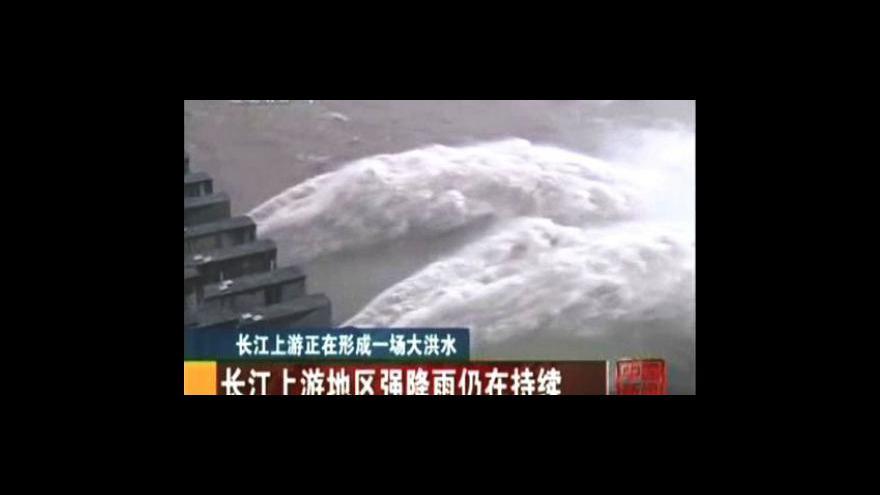 Video Přehrada Tři soutěsky se připravuje na velkou vodu