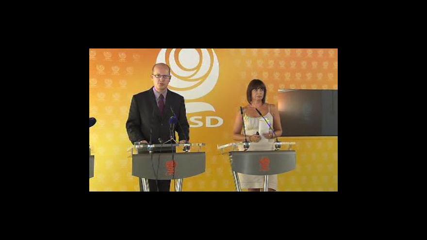 Video TK Bohuslava Sobotky k personálním změnám na ministerstvech