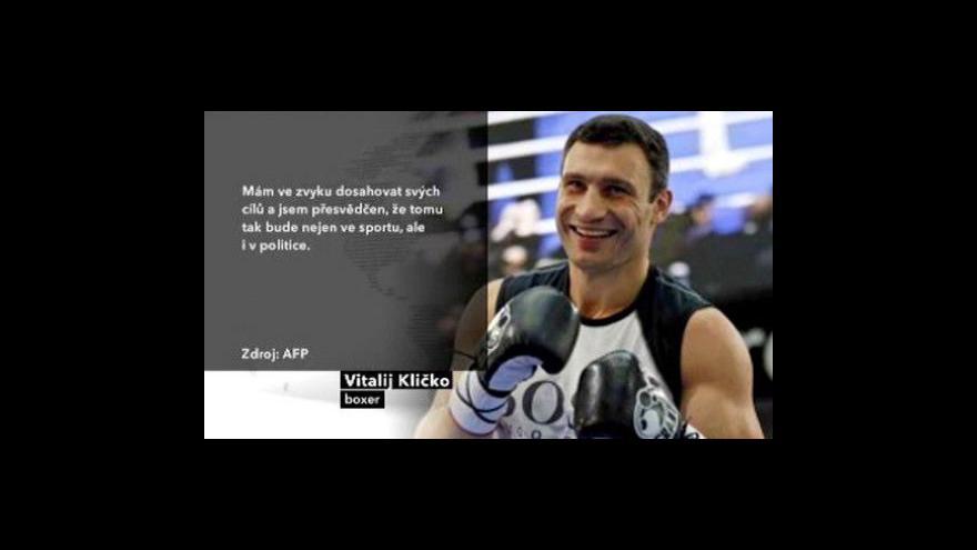 Video Boxer Kličko se chce stát starostou Kyjeva