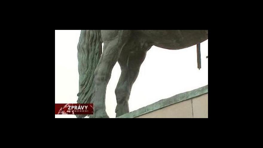 Video Žižkova socha před plánovanými opravami