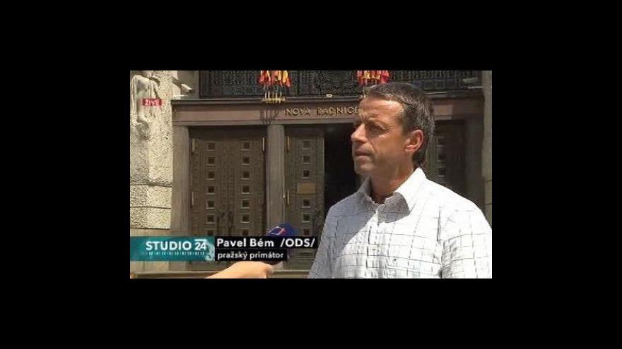 Video Studio ČT24 k situaci okolo tunelu Blanka