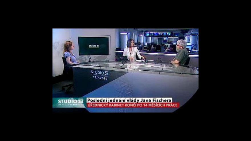Video Studio ČT24: Vláda Jana Fischera končí po 14 měsících