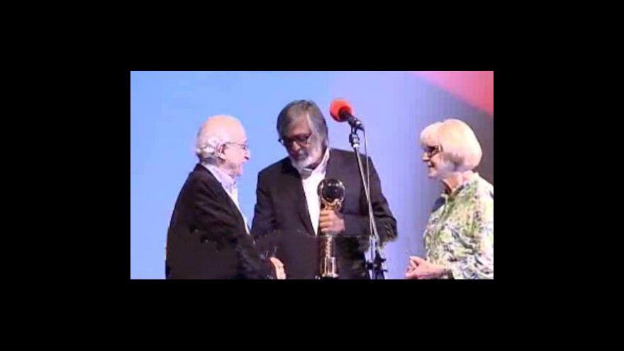 Video Juraj Herz přebírá Křišťálový glóbus